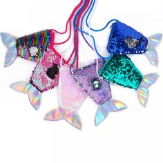 Bargain World 5 Sequin Mermaid Tail Plush With Sticky Notes