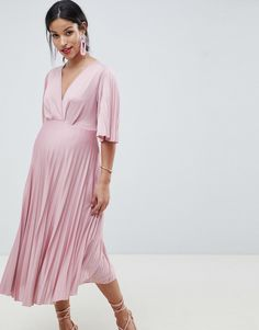ccadccf926a2 Shop ASOS DESIGN Maternity puff bardot sleeve swing with cluster  embellished dress at ASOS.