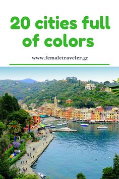 20 cities full of colors *Translation button at the top*