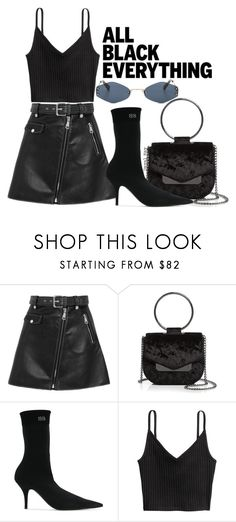 """#1251"" by dayal-may on Polyvore featuring Maje, Nasty Gal, Balenciaga, Kendall + Kylie, allblack, kendallandkylie, MajePanako and Nastygay"