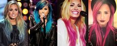 Demi Lovato, Hair, Colorful, Hairstyle