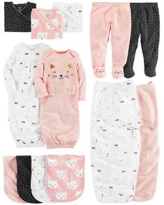 Baby and new child attire, such as party clothes, sleepsuits, vests and outdoor adventure clothing. Carters Baby Clothes, Baby Girl Pajamas, Baby Girl Sweaters, Carters Baby Boys, Cute Baby Clothes, Babies Clothes, Babies Stuff, Party Clothes, Baby Girls