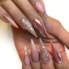 50 Cool Glitter Ombre Nails That are Trending This Summer! : 50 Cool Glitter Ombre Nails That are Trending This Summer! Nail Art Designs, Nail Designs Pictures, Ombre Nail Designs, Nails Design, Design Ideas, Design Art, Long Stiletto Nails, Nude Nails, Long Nails