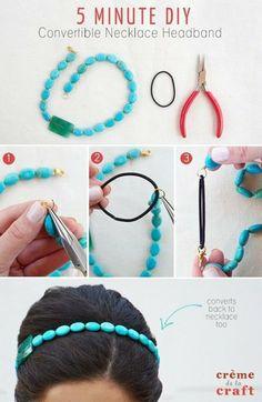 DIY Head Band!  #hairdo #turquoise #beads