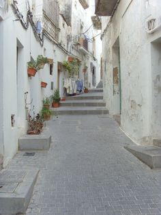 Little winding streets of Ibiza old town