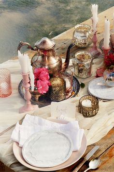 love these votive holders for a dinner party from @BHLDN Weddings