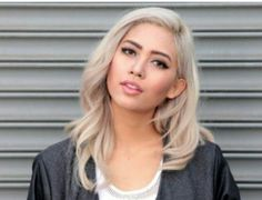 Image result for asian blonde hair dark brows