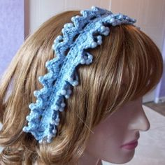 Beaded Loopy Headband - FREE Crochet Pattern.