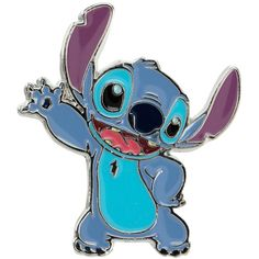 Hot Topic Disney Lilo & Stitch Waving Stitch Enamel Pin ($4.42) ❤ liked on Polyvore featuring jewelry, brooches, multi, pin brooch, enamel brooches, enamel jewelry and pin jewelry