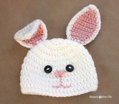 Crochet Bunny Pattern Easy Crochet Bunny Hat Pattern Repeat Crafter Me Crochet Bunny Pattern Easy Easter Bunny Egg Crochet Pattern Amigurumi Today. Bonnet Crochet, Crochet Bunny Pattern, Crochet Baby Hat Patterns, Crochet Diy, Crochet Amigurumi, Easter Crochet, Crochet For Kids, Crochet Crafts, Yarn Crafts