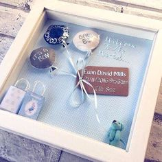 This is a gorgeous baby blue design that would be the perfect personal present to welcome a new arrival A beautifully unique gift for a new addition