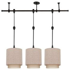Sea Gull Lighting 94488-71 Stirling Transitions Three-Light Pendant Kit in Antiq traditional-track-lighting-kits