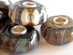 """Trollbeads by Scott Bouwens - """"rocky beach kit"""" #lampwork #beads"""