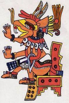 Huehuecoyotl (Old Coyote).  Aztec trickster god.