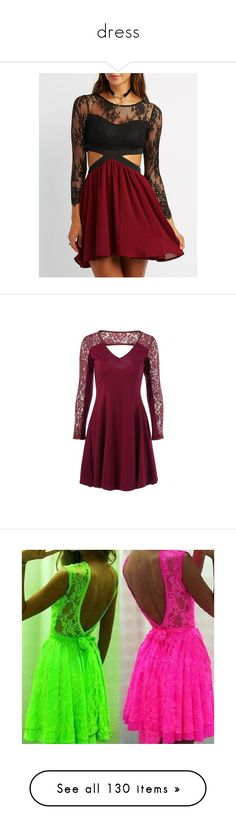 """""""dress"""" by zoesears on Polyvore featuring dresses, burgundy cmb, red long sleeve dress, burgundy lace dress, sexy dresses, long-sleeve maxi dresses, lace-sleeve dresses, purple cut out dress, cut out dresses and purple dresses"""
