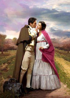 Artist: Jon Paul Studios; romance novel cover art; romantic; lovers; couple; beautiful; beauty; painting; paintings; style; dress; fashion