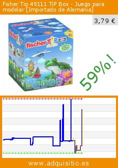 Fisher Tip 49111 TiP Box - Juego para modelar [Importado de Alemania] (Juguete). Baja 59%! Precio actual 3,79 €, el precio anterior fue de 9,26 €. http://www.adquisitio.es/fischertechnik/fisher-tip-49111-tip-box