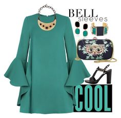 """""""Bell Sleeves Cool"""" by easy-dressing ❤ liked on Polyvore featuring Gucci, Valentino, Yves Saint Laurent, Roberto Coin, Erica Lyons, polyvoreeditorial, polyvorecontest and bellsleeves"""