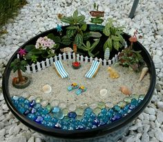 62 diy miniature fairy garden ideas to bring magic into your home page 8 of 62 20 best magical diy fairy garden ideas 13 Beach Fairy Garden, Fairy Garden Houses, Garden Cottage, Indoor Fairy Gardens, Miniature Fairy Gardens, Fairy Gardens For Kids, Garden Ideas To Make, Create A Fairy, Dish Garden