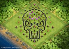 Skull Candy Townhall 8 Hybrid Clash of Clans Layout created by Mr.Rogers85. Try it out in the attack simulator, see previous attacks or modify it with the base builder
