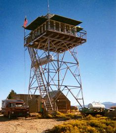 A classic old lookout. Fire Lookout Towers - Google Search