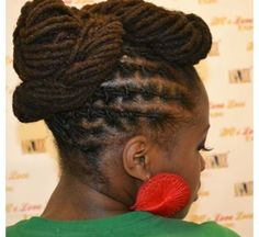 Lovely locs / dreadlocks updo by Naturaleemee Salon :: Shop Loc Accessories at DreadStop.Com