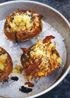 Baked Potatoes, rillettes and rosemary - Nigel Slater