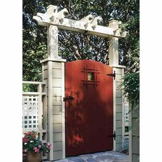 View a Larger Image of Downloadable Woodworking Project Plan to Build Grand Entrance Garden Gate