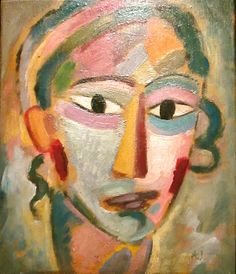 "Alexj von Jawlensky - ""Head of a Girl"""