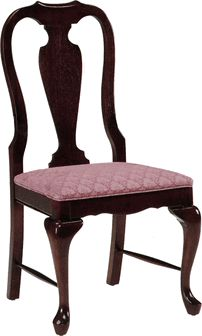 235 Queen Anne Side Chair - Grade 1, 235-grade1 by AC Furniture | BizChair.com
