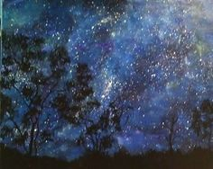 Landscape at night.  A country girl at heart.  Wendy Patterson Art