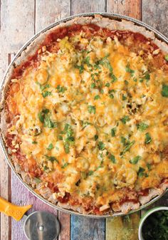 Add some southern kick to dinner with quick and easy nacho pizza.