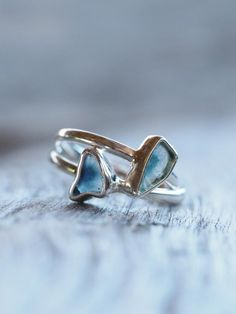 Blue Tourmaline Slice Ring    She shushed you as you faltered. Uncovered the universe knitted in your bones.