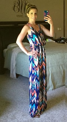 Stitch Fix Renee C Reyna Knit Maxi Dress - I love this dress and everything about it! It's too long but I am still going to buy it and pay extra to have it hemmed!
