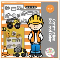 Construction Roll And Color 1 Cube To Make 4 Different Coloring Pages Adult Will Need