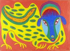 Ukrainian representative of naïve art: Maria Prymachenko -Wild Wizard (1977) / Український представник наївного мистецтва: Марія Примаченко - Дикий чаклун (1977)