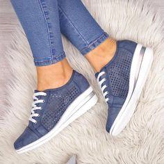 Women Slip On Sneakers Hollow-Out Breathable Design Wedge Heel Sneakers Women Slip On Sneakers, Buy Sneakers, Sneakers Fashion, Fashion Shoes, Shoes Women, Wedge Heel Sneakers, Sneaker Heels, Wedge Heels, Casual Heels