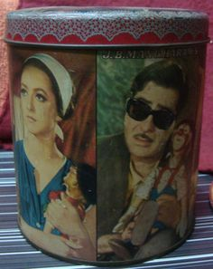 Old Vintage Tin Biscuit Box with Bollywood Movie Mera Naam Joker Advertisement | eBay