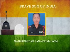 #COAS & all ranks #IndianArmy salute supreme sacrifice of Naib Subedar Sanayaima Kom in the line of duty in Poonch SectorJ&http://K.pic.twitter.com/AFsqH4mdXe #IndianArmy #Army
