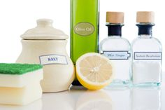 Country Cleaning - Homemade Cleaning Products | Stretcher.com     Want to learn the art of chemical-free cleaning? Here are several tips that use products straight from your kitchen, such as ketchup, corn starch, baking soda, lemon and salt. http://www.stretcher.com/stories/04/04may31f.cfm