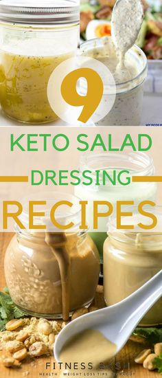 Keto Salad Dressing: The low carb keto salad dressing recipes which are better than store bought salad dressings.