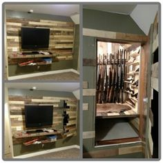Hidden Rooms You Will Want In Your Own House 37 (Hidden Rooms You Will Want In Your Own House design ideas and photos - Versteckte Räume Hidden Gun Safe, Hidden Gun Storage, Secret Storage, Ammo Storage, Door Storage, Hidden Spaces, Hidden Rooms, Hidden Closet, Hidden House