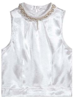 Shop White Sleeveless Bead Vest online. Sheinside offers White Sleeveless Bead Vest & more to fit your fashionable needs. Free Shipping Worldwide!