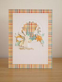 Fijne Paasdagen!     Mijn kaart is een lift van deze , het ruitjespapier is van Lawn Fawn, de konijntjes zijn stansen van Memory Box e...