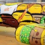 Os Gemeos Paints a Mural on a Boeing 737 with 1,200 Cans of Spray Paint for Brazil's World Cup Team