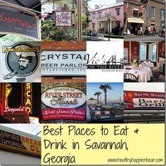 Best Places to eat in Savannah, Georgia #Savannah #travel