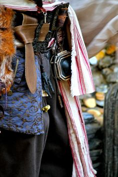 Captain Jack Sparrow Costume Detail. Pirate Week (Sept 24). Photo by #RachelElaine