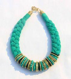 Green thread neckpiece