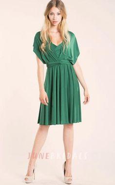 Convertible Knee-length Jersey Dress
