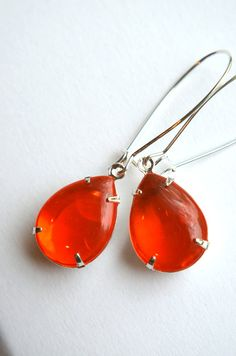 Vintage Tangerine Earrings